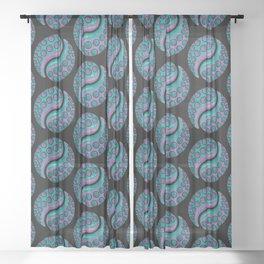 Tentacle Yin Yang Sheer Curtain