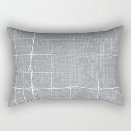 Fargo Map, North Dakota USA - Pewter Rectangular Pillow
