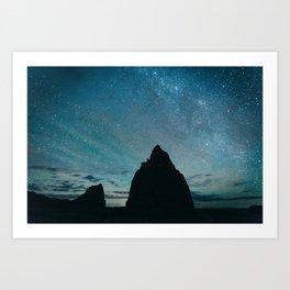 Milky Way night sky photography Art Print