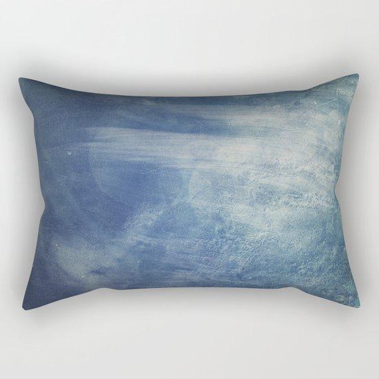 texture bleue Rectangular Pillow