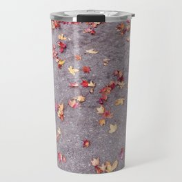 Autumn leaves, colours, gutters in Vancouver, BC Travel Mug
