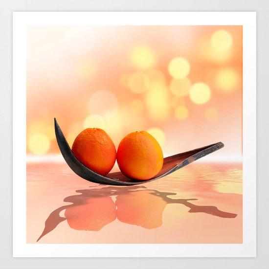 Orange magic Art Print