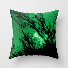 Aurora Green. Throw Pillow