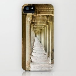 Angkor Wat Leading Lines, Cambodia iPhone Case