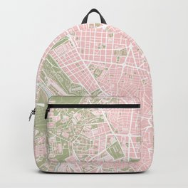 Madrid map vintage Backpack