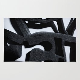 Shadow of Foam Abstract One BW Pattern Rug
