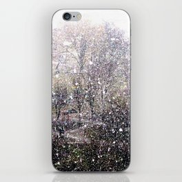 Snow in early fall(1)  iPhone Skin