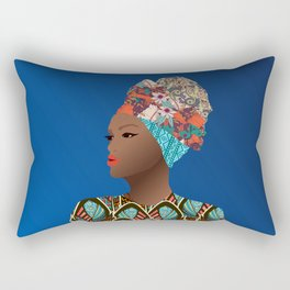 Bilene, Mozambique Capulana Lady Rectangular Pillow