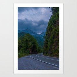 Mountain Road Montenegro Art Print