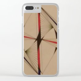 Abstracto tinta Z Clear iPhone Case