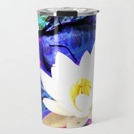 Electrifying Lotus Travel Mug
