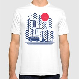 Camping Days / Van nature minimal birds sun T-shirt
