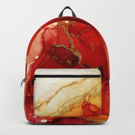 Golden Flames Abstract Ink - Part 2 Backpack
