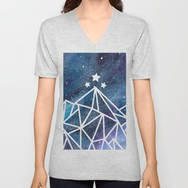 Watercolor galaxy Night Court - ACOTAR inspired Unisex V-Neck