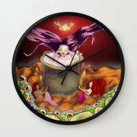 bath Wall Clocks featuring Bath by Devorah Greenberg