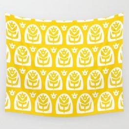 Mid Century Modern Sunflower Yellow Wall Tapestry