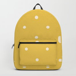 Mustard yellow polka dot ochre pattern print Backpack