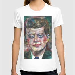 JOHN F. KENNEDY - watercolor portrait T-shirt