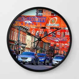 Broncos Country Wall Clock