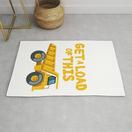 Get A Load Of This Funny Dump Trucks  Construction Truck   Rug