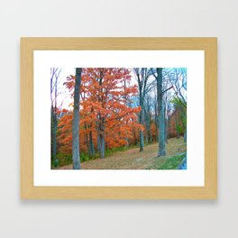 Breathtaking Autumn Afternoon Framed Art Print