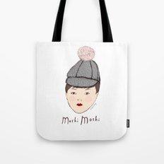 Moshi Moshi - White and Pink Tote Bag
