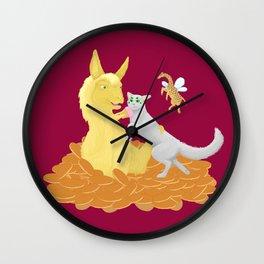 Pancake Llama Wall Clock