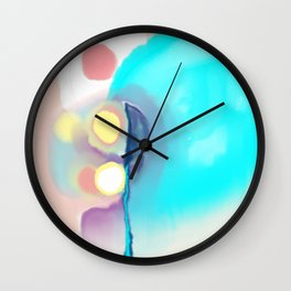 Turquoise and other colors Wall Clock