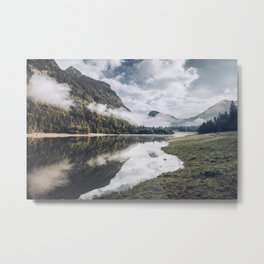 Morning mood lake with reflection in Bavaria Chiemgau Metal Print