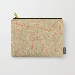 Sao Paulo Map Retro Carry-All Pouch