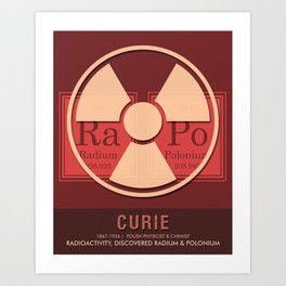 Science Posters - Marie Curie - Physicist, Chemist Art Print