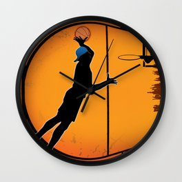Basketball Player Silhouette Wall Clock