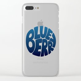 Typo' Blueberry Clear iPhone Case