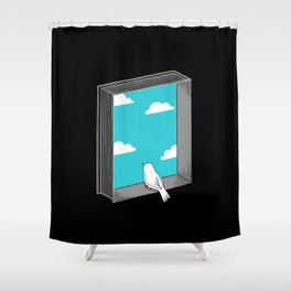 Every book a window Shower Curtain