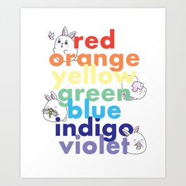 Colors of the rainbow Art Print