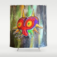 majora Shower Curtains featuring Majora mask by Lyxy