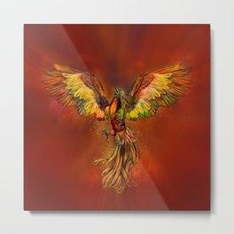 Phoenix Rising - red sky Metal Print