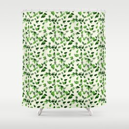 Ivy Leave Pattern Shower Curtain