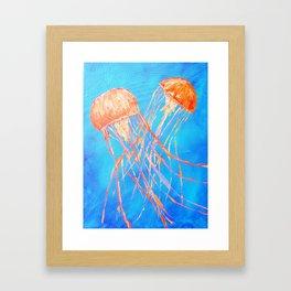 Bright Dance of the Sea Framed Art Print