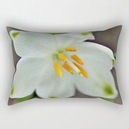 Galanthus nivalis 'Viridapice' Rectangular Pillow
