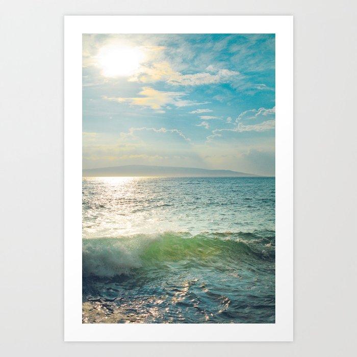 Pā'ako Beach Iridescence Art Print