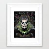 queen Framed Art Prints featuring My Queen by Wendy Ortiz
