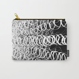 Black Spiral Swirls Reverse Carry-All Pouch