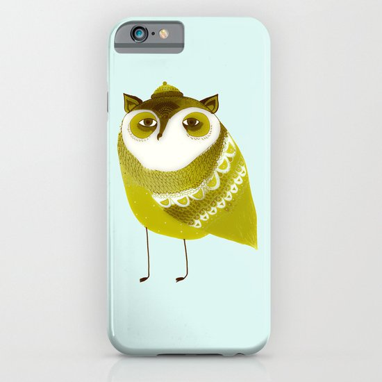 Golden Owl illustration  iPhone & iPod Case