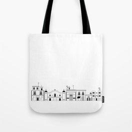 Mexican city line art Tote Bag