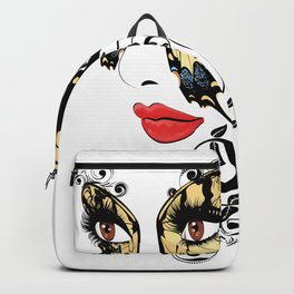 Butterfly mask Backpack