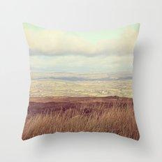 Cotton Wool Sky Throw Pillow