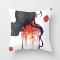 water color Throw Pillows featuring Water color by Kohaku+Disorder
