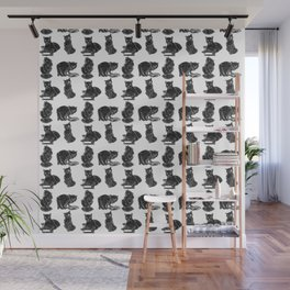 Сlever cats Wall Mural