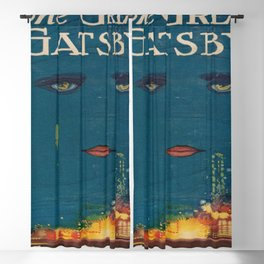 The Great Gatsby vintage book cover - Fitzgerald - muted tones Blackout Curtain